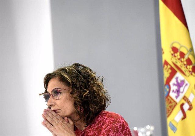 La ministra de Hacienda, María Jesús Montero, en una foto de archivo.