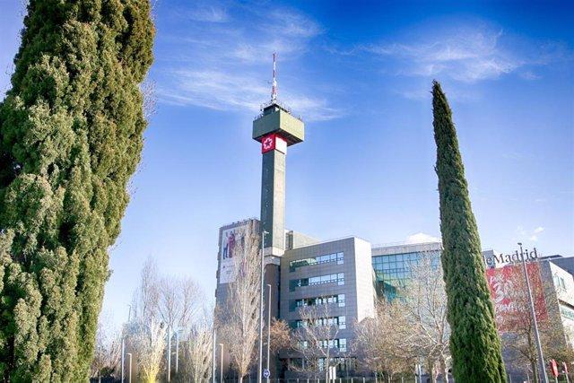 Archivo - Imagen de recurso del edificio de Telemadrid en la Calle de Paseo del Príncipe, en la Ciudad de la Imagen.