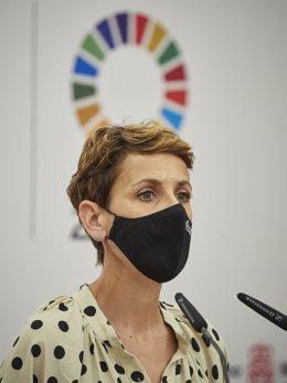 Arxiu - La presidenta del Govern de Navarra, María Chivite.