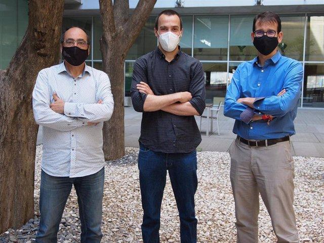 Jordi Alonso, Jorge Arias y Antoni Serrano.