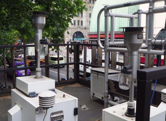 Medidor de calidad del aire en Londres