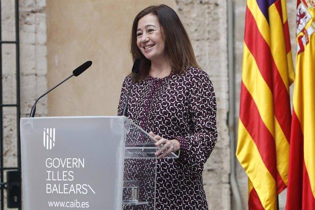 Archivo - Arxiu - La presidenta del Govern balear, Francina Armengol.