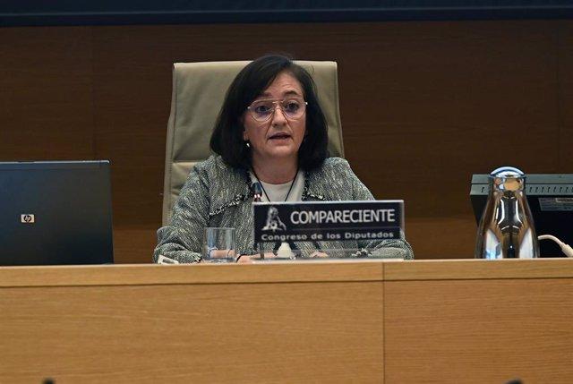 Archivo - La presidenta de la Autoridad Independiente de Responsabilidad Fiscal (AIReF), Cristina Herrero