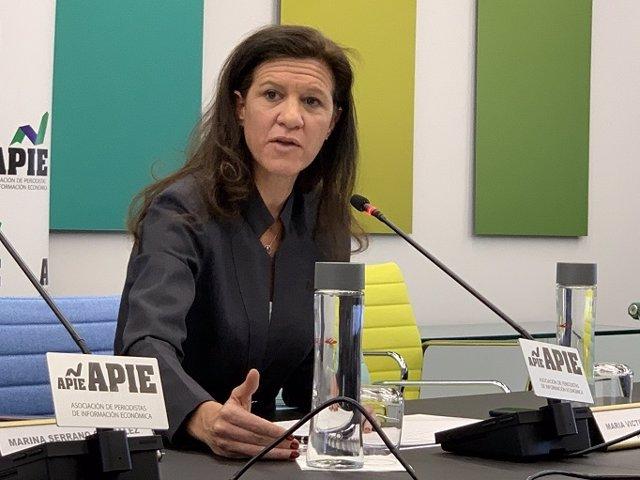 Archivo - María Victoria Zingoni, directora General de Negocios Comerciales y Química de Repsol, en la XXXII edición del Curso de Economía para Periodistas de APIE