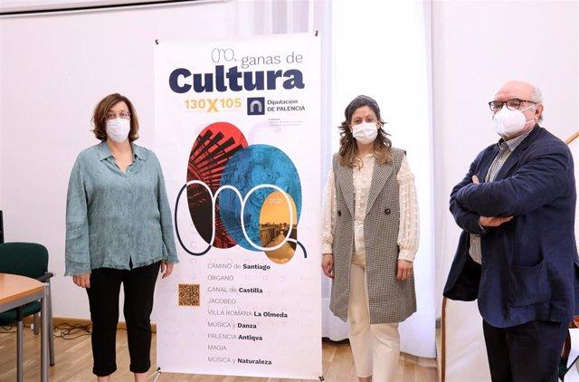 La presidenta de la Diputación, Ángeles Armisén (izquierda) y diputada de Cultura, Carolina Valbuena (derecha) presentan la programación cultura de verano.