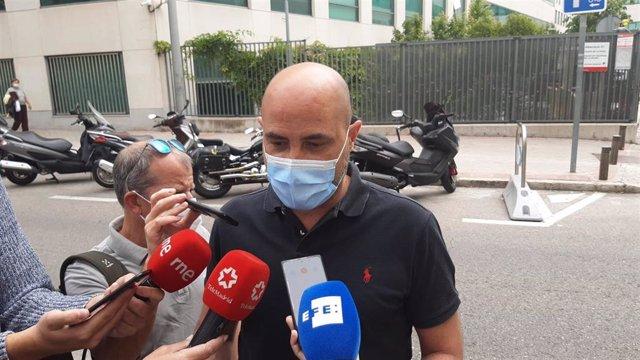 El alcalde de Colmenar, Jorge García Díaz, a su llegada a los juzgados de lo Penal de Madrid