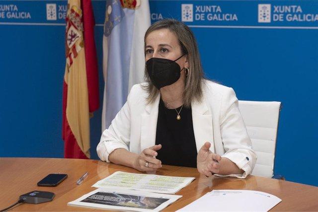 Archivo - La conselleira Ethel Vázquez, en rueda de prensa