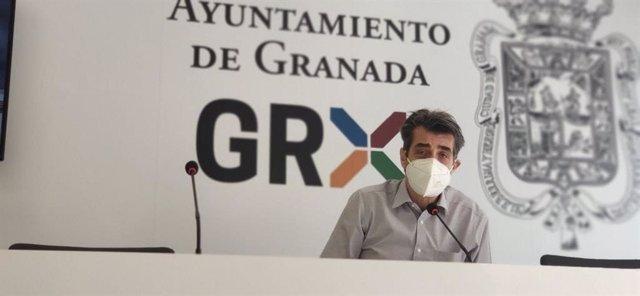 El portavoz de Unidas Podemos e Independientes, Antonio Cambril