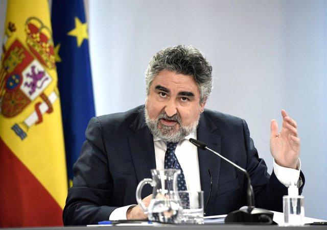 El ministro de Cultura, José Manuel Rodriguez Uribes,