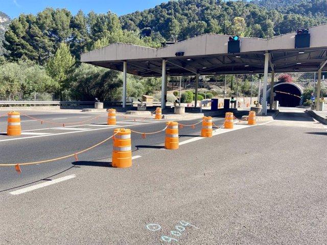 Inician el desmantelado de las instalaciones del peaje del túnel de Sóller.