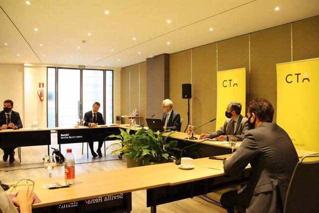 El comité ejecutivo de la Corporación Tecnológica de Andalucía en la reunión presencial de este martes