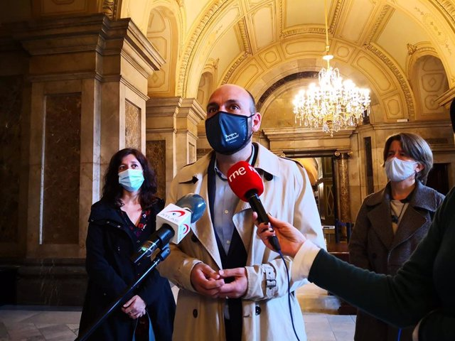 Archivo - Arxiu - El vicepresident d'Òmnium Cultural, Marcel Mauri, al Parlament de Catalunya.