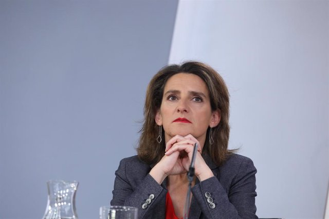 Archivo - La ministra de Transición Ecológica, Teresa Ribera, durante su comparecencia ante los medios de comunicación tras la reunión del Consejo de Ministros en Moncloa.