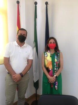 La delegada del Gobierno andaluz en Málaga, Patricia Navarro, ha realizado este martes una visita institucional al municipio malagueño de Cuevas Bajas