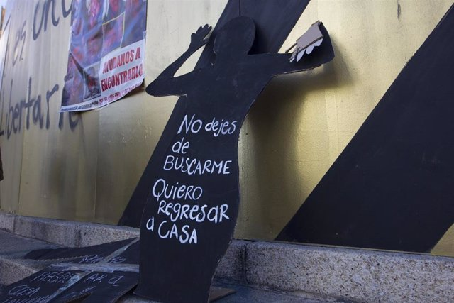 Archivo - Protesta por los desaparecidos en México.