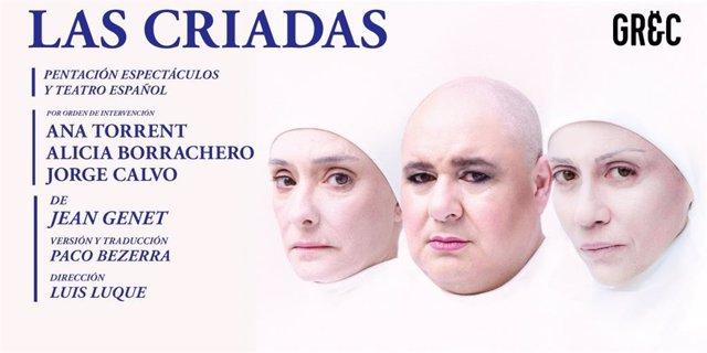 Cartell de l'obra de teatre 'Las Criadas'.