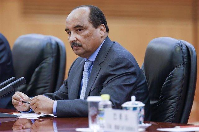 Archivo - El expresidente de Mauritania Mohamed Uld Abdelaziz