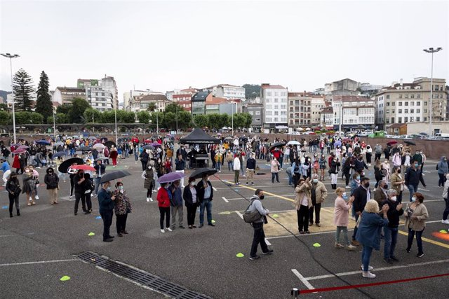 Prueba piloto de verbenas en fiestas en A Coruña.
