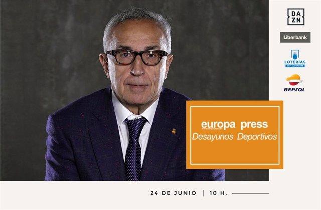 El presidente del COE, Alejandro Blanco, analizará las opciones de la delegación española en Tokyo 2020 en los Desayunos Deportivos de Europa Press.