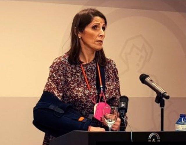 La delegada territorial de Educación y Deporte en Málaga, Mercedes García Paine, en una imagen de archivo