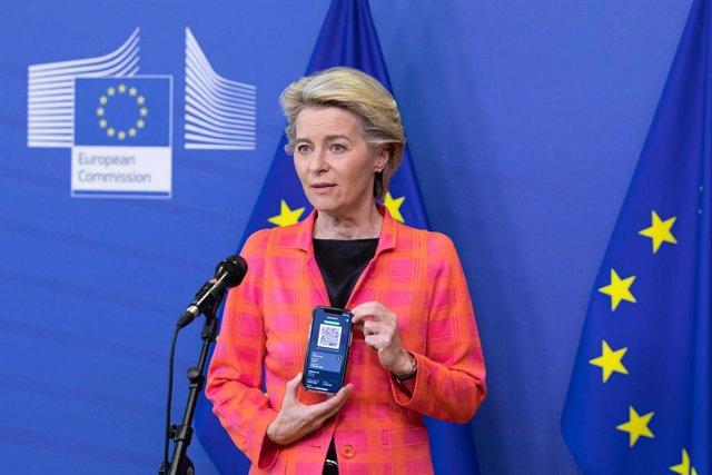 Arxiu - La presidenta de la Comissió Europea, Ursula von der Leyen.