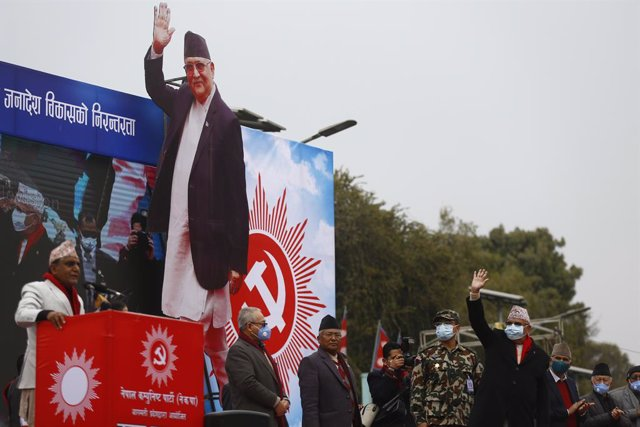 Archivo - El primer ministro de Nepal, KP Sharma Oli.