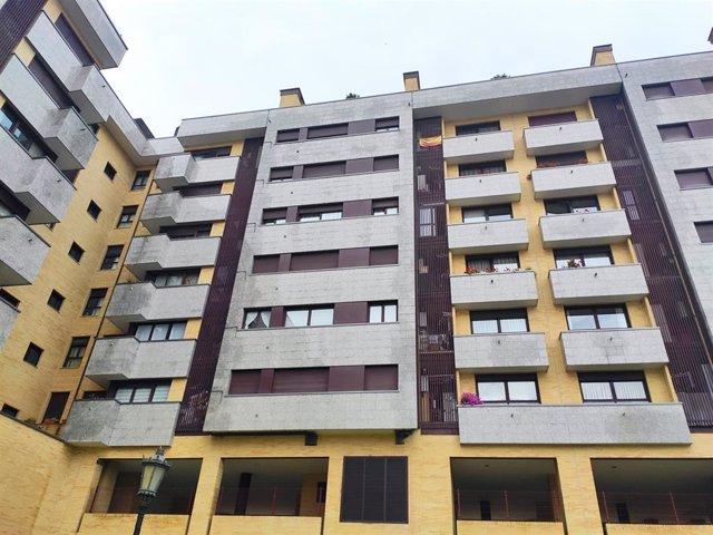 Imagen de archivo de viviendas en Oviedo.