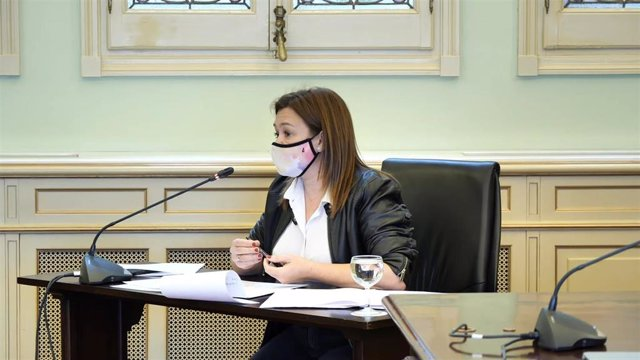 Archivo - La consellera de Presidencia, Función Pública e Igualdad, Mercedes Garrido, comparece en comisión parlamentaria.