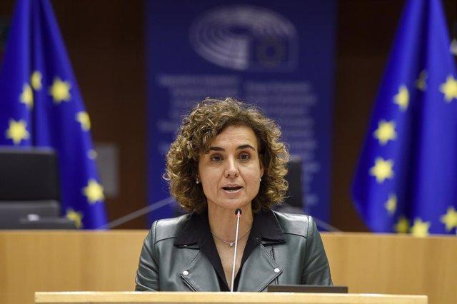 La portavoz del PP en el Parlamento europeo, Dolors Montserrat, en una foto de archivo.