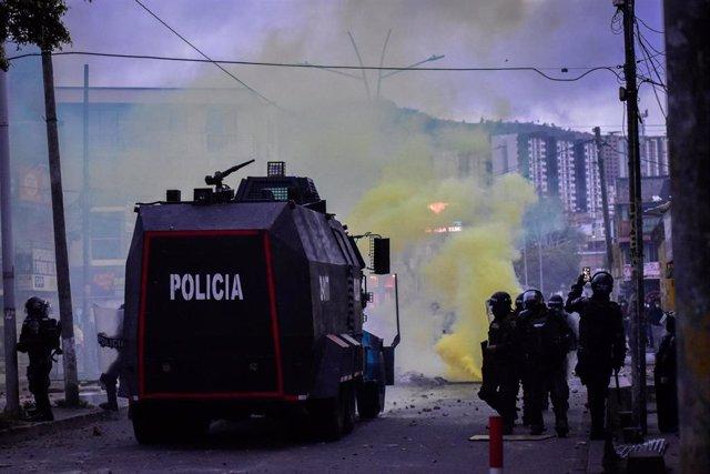 Protestas contra el Gobierno de Colombia en Pasto.