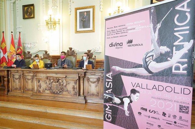 Presentación de los campeonatos de Gimansia Rítmica que acogerá Valladolid en los próximos nueve días.
