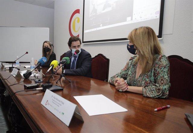Inauguración de las jornadas 'Claves y fases de un plan de internacionalización' organizadas en Huelva por la Empresa Pública Andaluza de Promoción Exterior (Extenda).