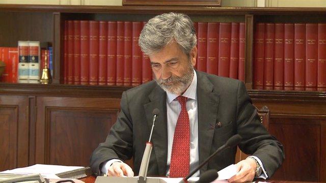 Archivo - Arxiu - Reunió del Consell General del Poder Judicial presidida per Carlos Lesmes.