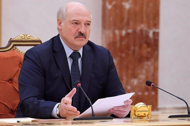 Archivo - El presidente de Bielorrusia, Alexander Lukashenko.