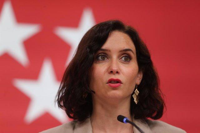 Arxiu - La presidenta de la Comunitat de Madrid, Isabel Díaz Ayuso.