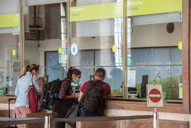Estación de Santa Apolonia, en Lisboa.