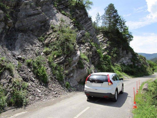Carretera de acceso al valle de Zuriza, en la provincia de Huesca.