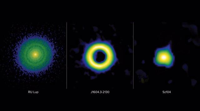 Un nuevo estudio revela que la presencia de huecos en los discos de formación de planetas es más común en las estrellas de mayor masa y en el desarrollo de exoplanetas grandes y gaseosos.
