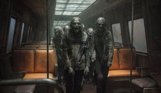 Zombies en un tren en nuevas fotos de la temporada 11 de The Walking Dead