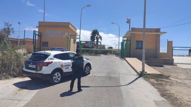 Inmediaciones del lugar donde dos menores no acompañados agredieron a otro en Melilla