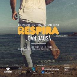 Cartell dels concerts de Joan Dausà a Empúries (Girona)