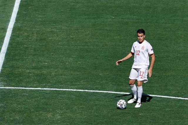 Eric Garcia of Spain in action during the UEFA EURO 2020 Group E football match between Slovakia and Spain at La Cartuja stadium on June 23, 2021 in Seville, Spain.