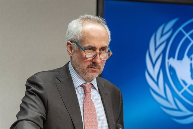 Archivo - El portavoz de la Secretaría General de la ONU, Stéphane Dujarric.