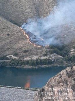 Incendio forestal en Güéjar Sierra (Granada)
