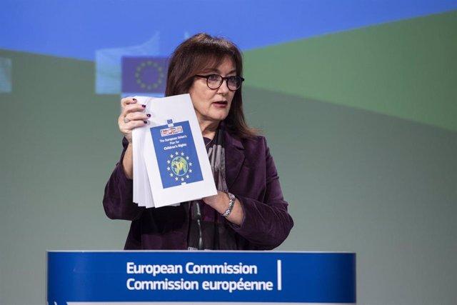 Archivo - Dubravka Suica, viceprsidenta de la Comisión Europea