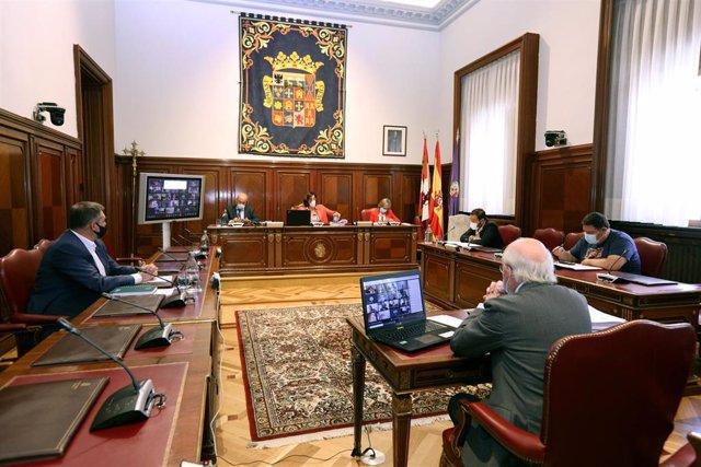Pleno de la Diputación de Palencia.