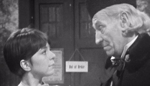 Jackie Lane junto a William Hartnell en Doctor Who