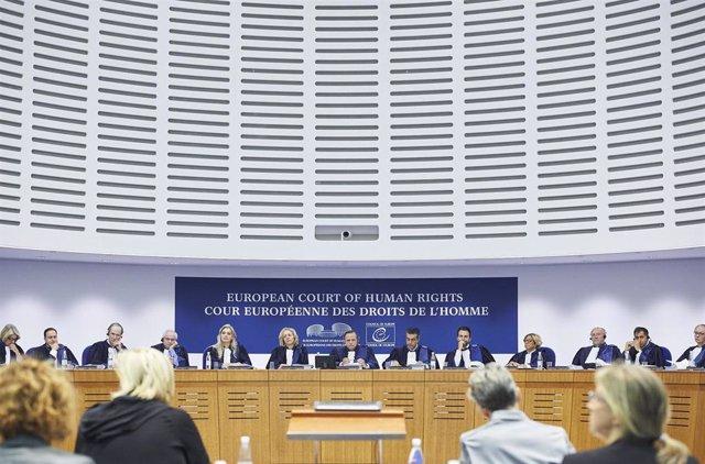 Archivo - Gran Sala Del Tribunal Europeo De Derechos Humanos (Imagen de archivo)