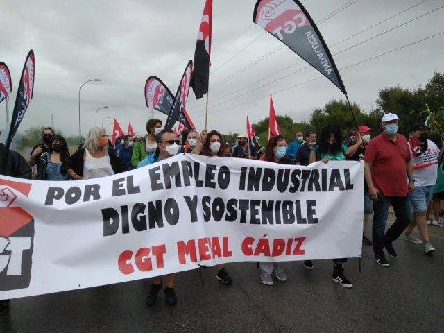 Manifestación del viernes 18 de junio contra el cierre de la planta de Airbus Puerto Real.