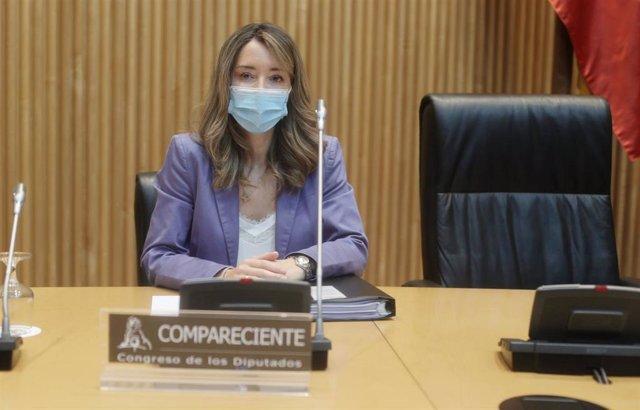 La secretaria de Estado de Comercio, Xiana Méndez, en la Comisión de Defensa del Congreso
